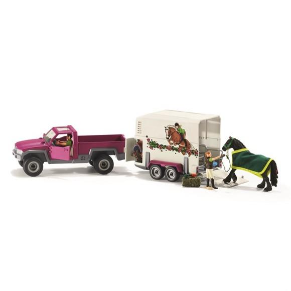Schleich - Pick up med hestetrailer (42346)
