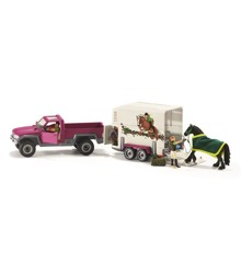 Schleich - Pick up with horse box (42346)