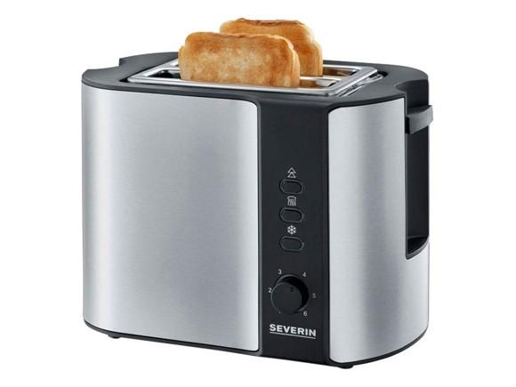 Severin - Toaster AT 2589 800 Watt - Black/Steel (495088)