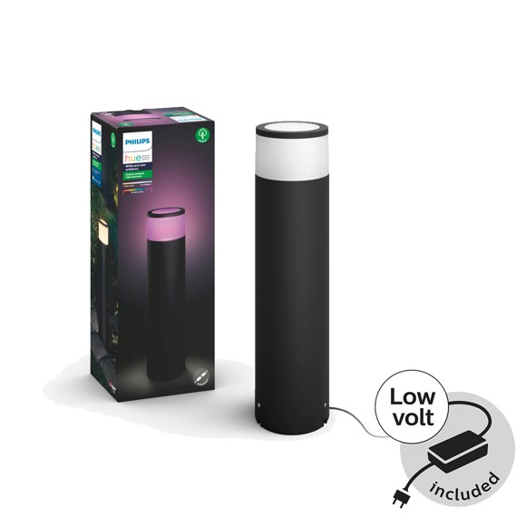 Philips Hue - Calla Large Pedestal Basekit - White & Color Ambiance - Outdoor