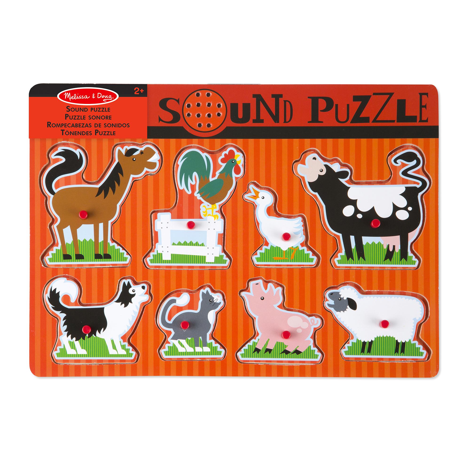 Melissa & Doug - Farm Animals Sound Puzzle (10726)