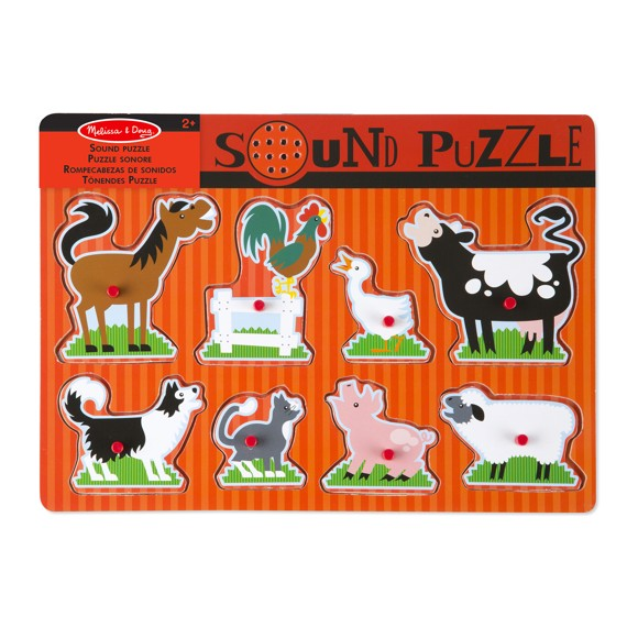 Melissa & Doug - Farm Animals Sound Puzzle (10726)