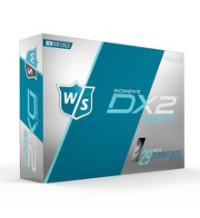 WILSON STAFF DX2 SOFT OPTIX WOMEN'S MATTE GOLF BALLS - 12 PACK