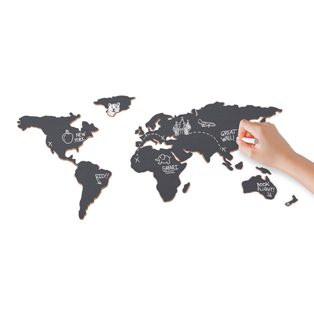 Chalkboard Map - Self Adhesive Chalkboard inclusive Chalk (LUKCHAL)