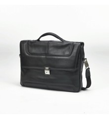 "Samsonite - Sidaho 15"" Portfolio Black Leather Computer Bag"