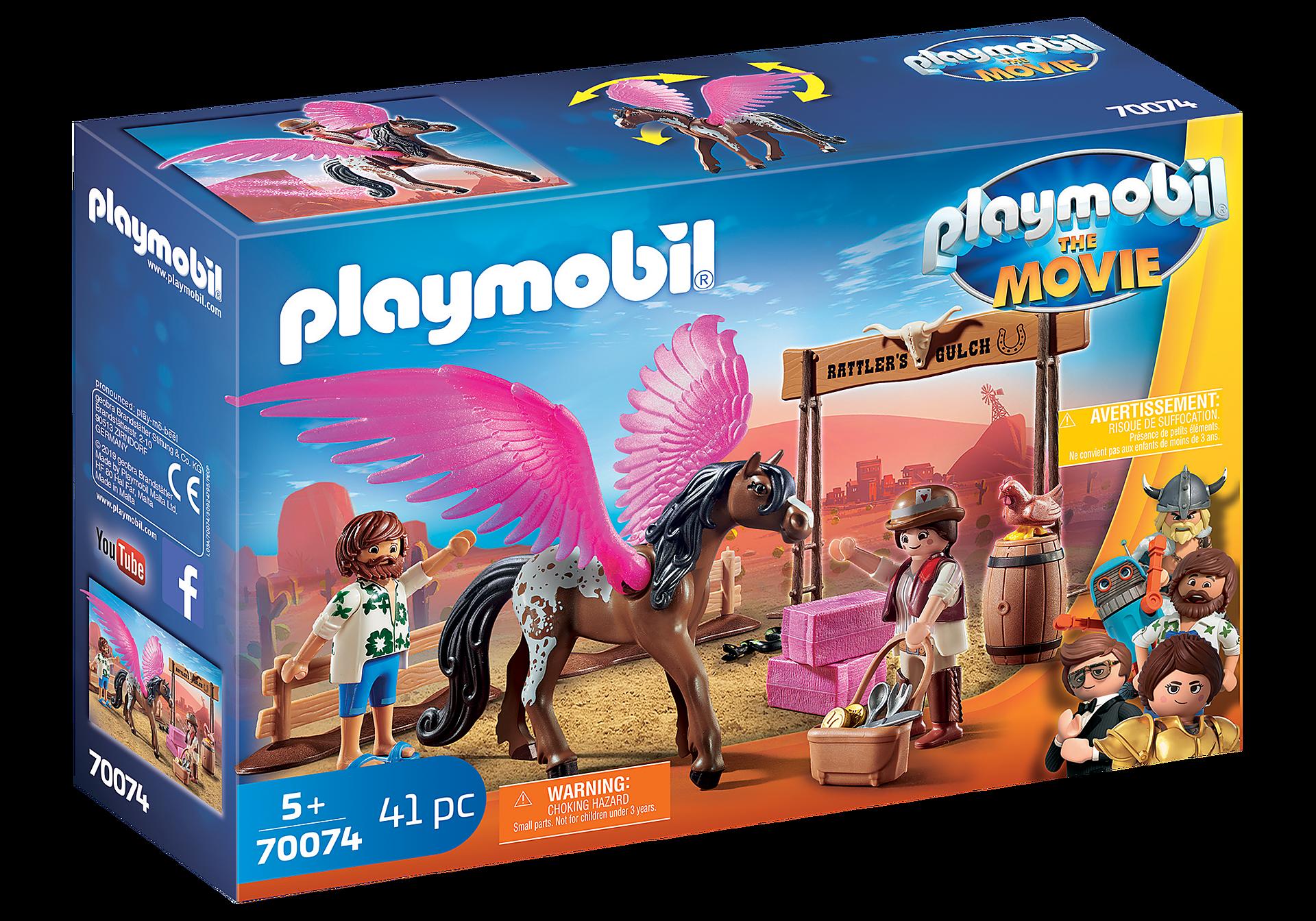 Playmobil - THE MOVIE - Marla og Del med flyvende hest (70074)