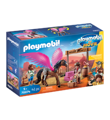 Playmobil - THE MOVIE - Marla og Del med flyvende hest (70074)