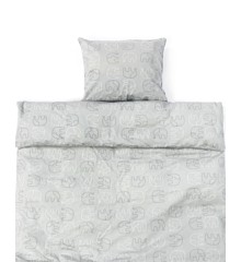 Smallstuff - Baby Bedding 70x100 - Soft Grey