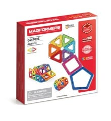 Magformers - Rainbow, 62 dele
