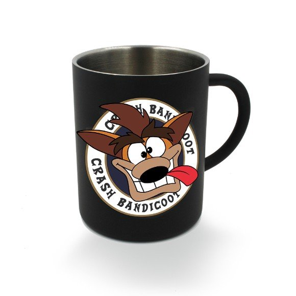 Crash Bandicoot Black Steel Mug