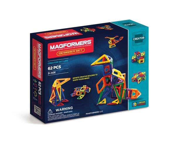 Magformers - Rainbow Designer Sæt, 62 dele