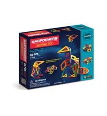 Magformers - Rainbow Designer Set, 62 deler