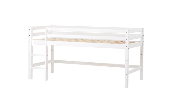 Hoppekids - Bed with half-high module 90x200 cm - White