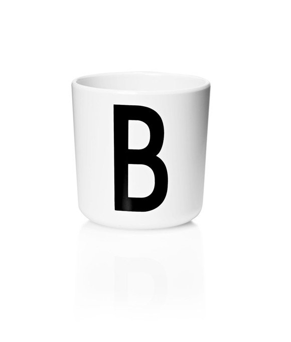 Design Letters - Personal Melamine Cup B - White (20201000B)