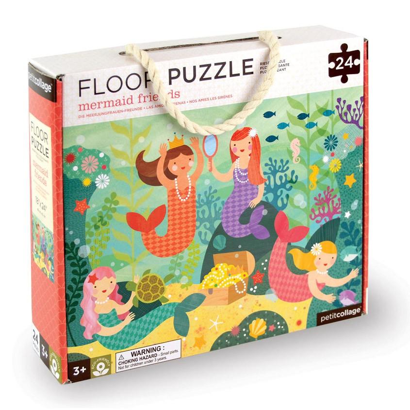 Petit Collage - Floor puzzle with Mermaid Friends, 24 pcs