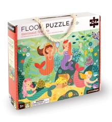Petit Collage - Floor puzzle with Mermaid Friends, 24 pcs