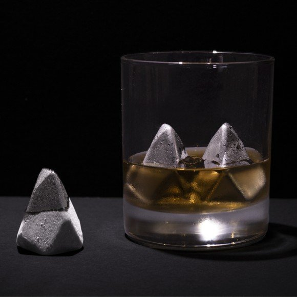 Polar - Iceberg Shaped Metallic Drinking Stones (LUKPOL)