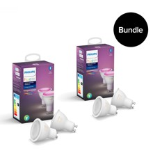 Philips Hue -  2xGU10 2-Pack (4 pcs in total) - Color Ambiance - Bluetooth - Bundle
