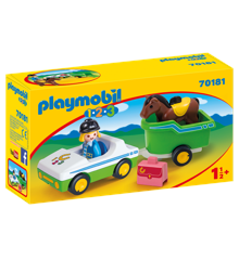 Playmobil  1.2.3 - Car with horse trailer (70181)