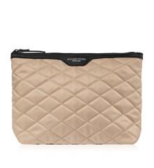 Gillian Jones - Cosmetic Bag Quiltet Nylon Latte