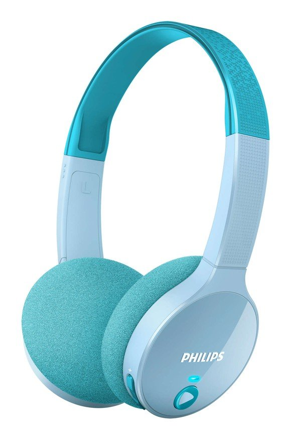 Philips - SHK4000TL/00 Wireless Kids Headphones Teal