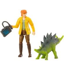 Jurassic World - Basic Figure - Claire and Stegosaurus (FMM06)