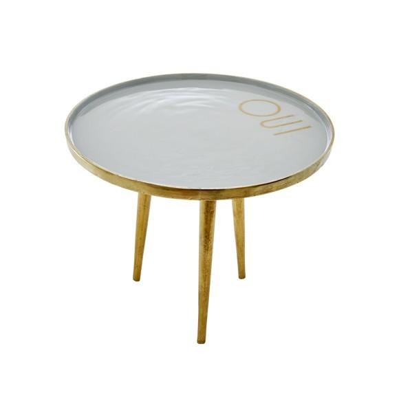 Rice - Round Metal Side Table - Skye Blue