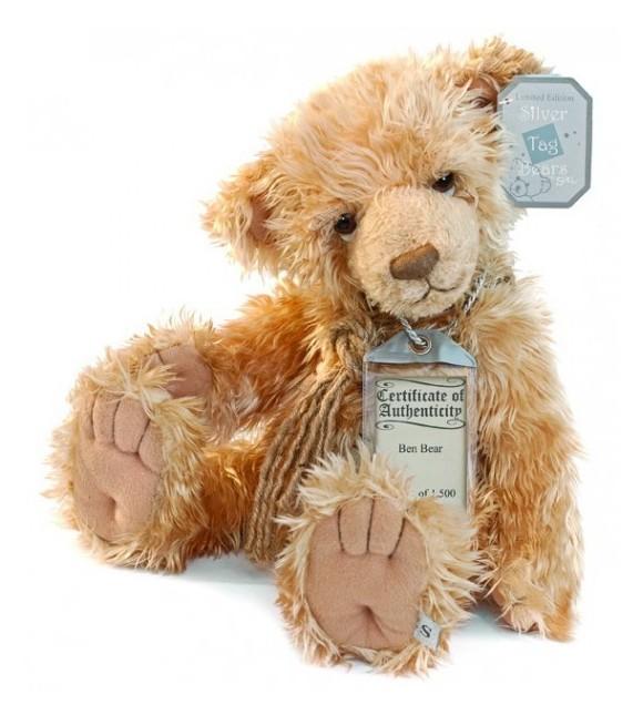Suki - Silver Tag Teddy Bear - Ben - Limited edition
