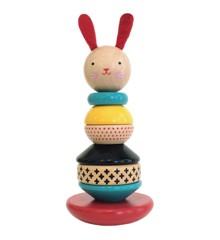 Petit Collage - Rabbit Wood Stacking Toy