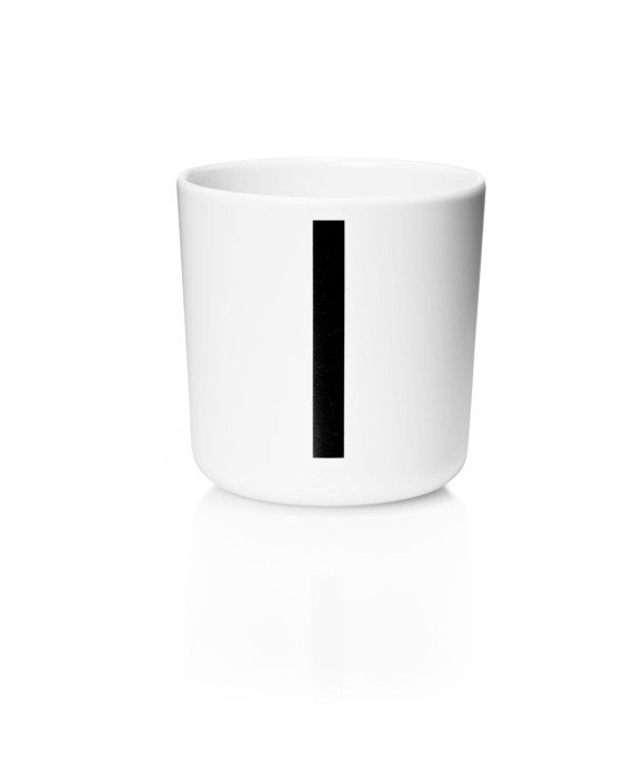 ​Design Letters - Personal Melamine Cup I - White (20201000I)