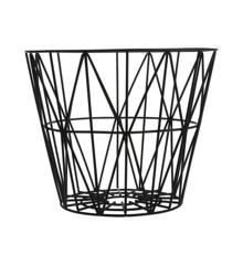Ferm Living - Wire Trådkurv Mellem - Sort