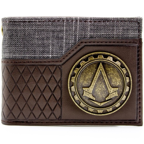 Ubisoft Assassins Creed Syndicate Brown ID & Card Bi-Fold Wallet