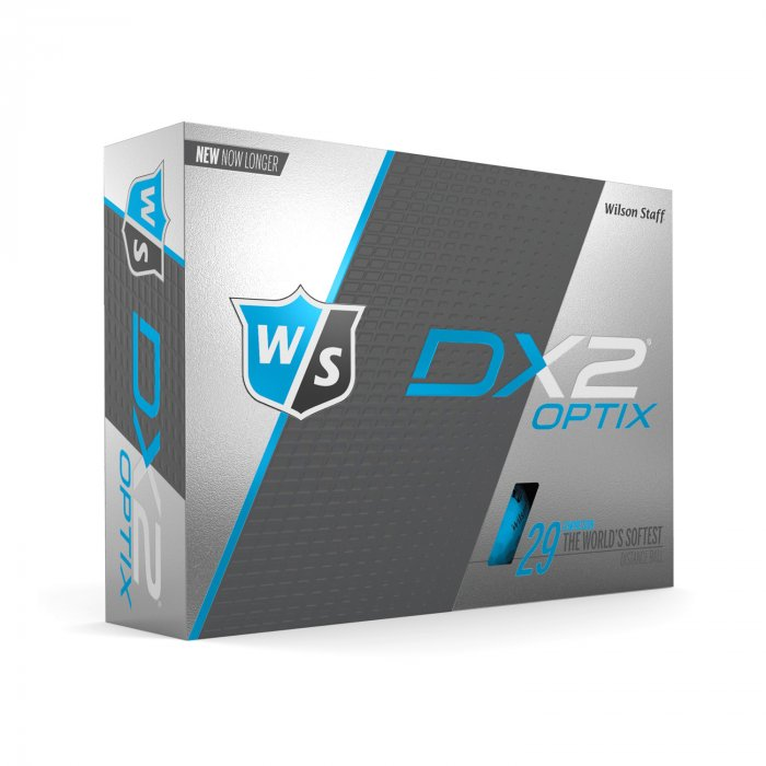WILSON STAFF - DX2 SOFT BLUE GOLF BALLS - 12 PACK