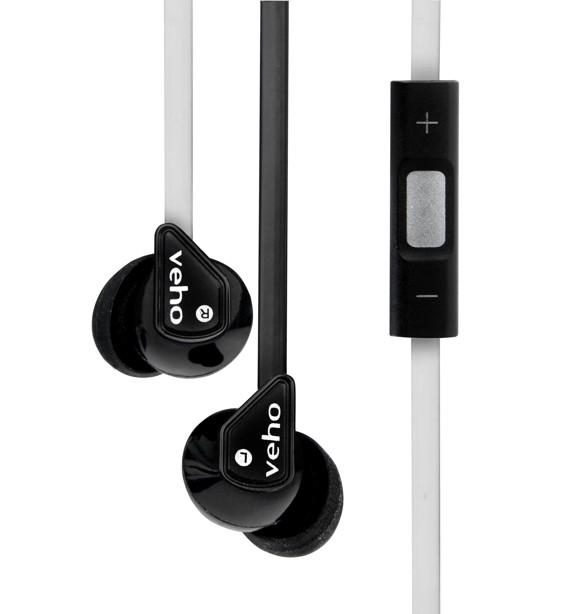 Veho VEP-004-Z2BW Stereo Sound Isolating Earphones