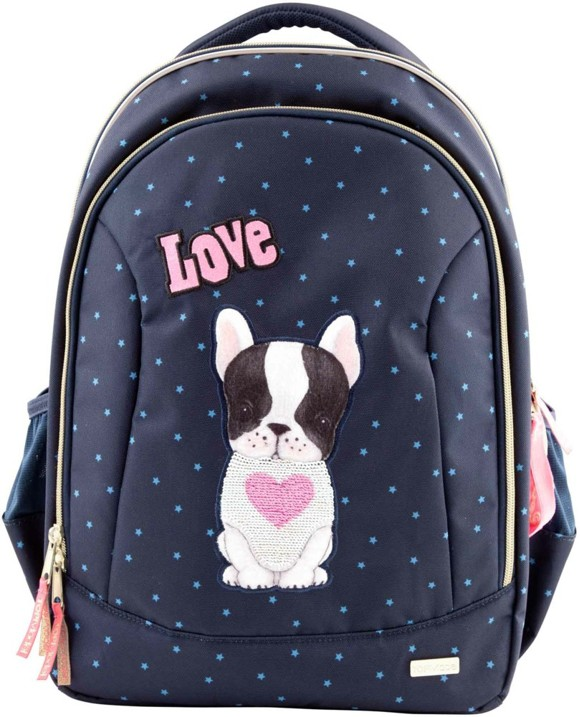 Top Model - Schoolbag w/Dog - Blue (0410739)
