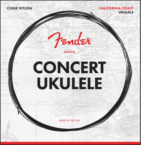 Fender - California Coast - Strings For Concert Ukulele