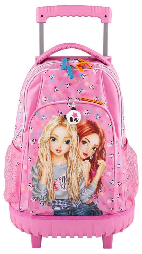 Top Model - School Backpack w/trolly - Panda (0410618)