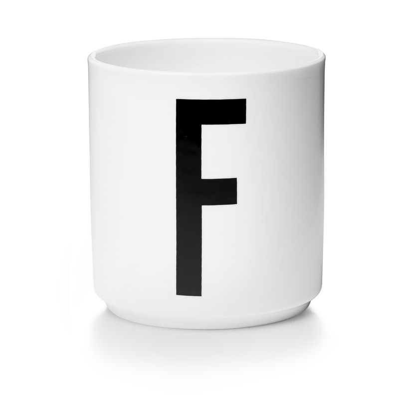 Design Letters - Personal Porcelain Cup F - White