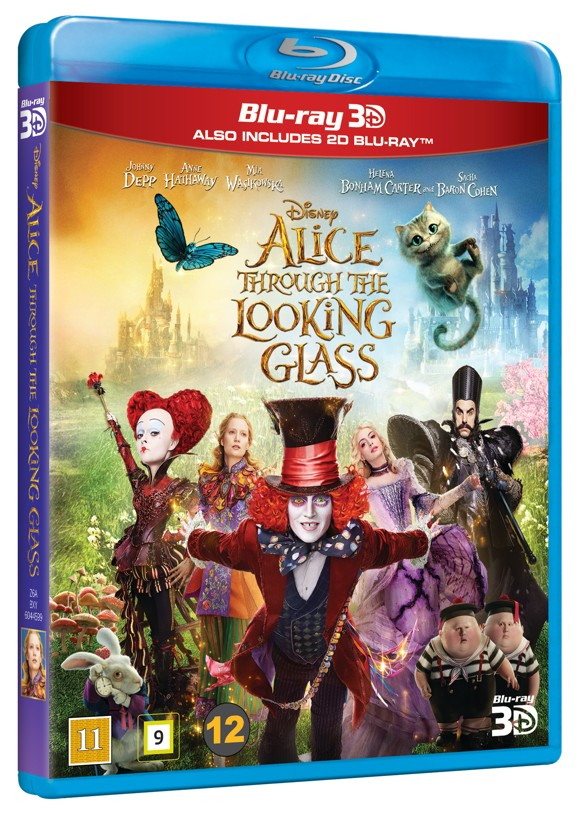 Alice i Eventyrland: Bag spejlet/Alice through the looking glass (3D Blu-Ray)