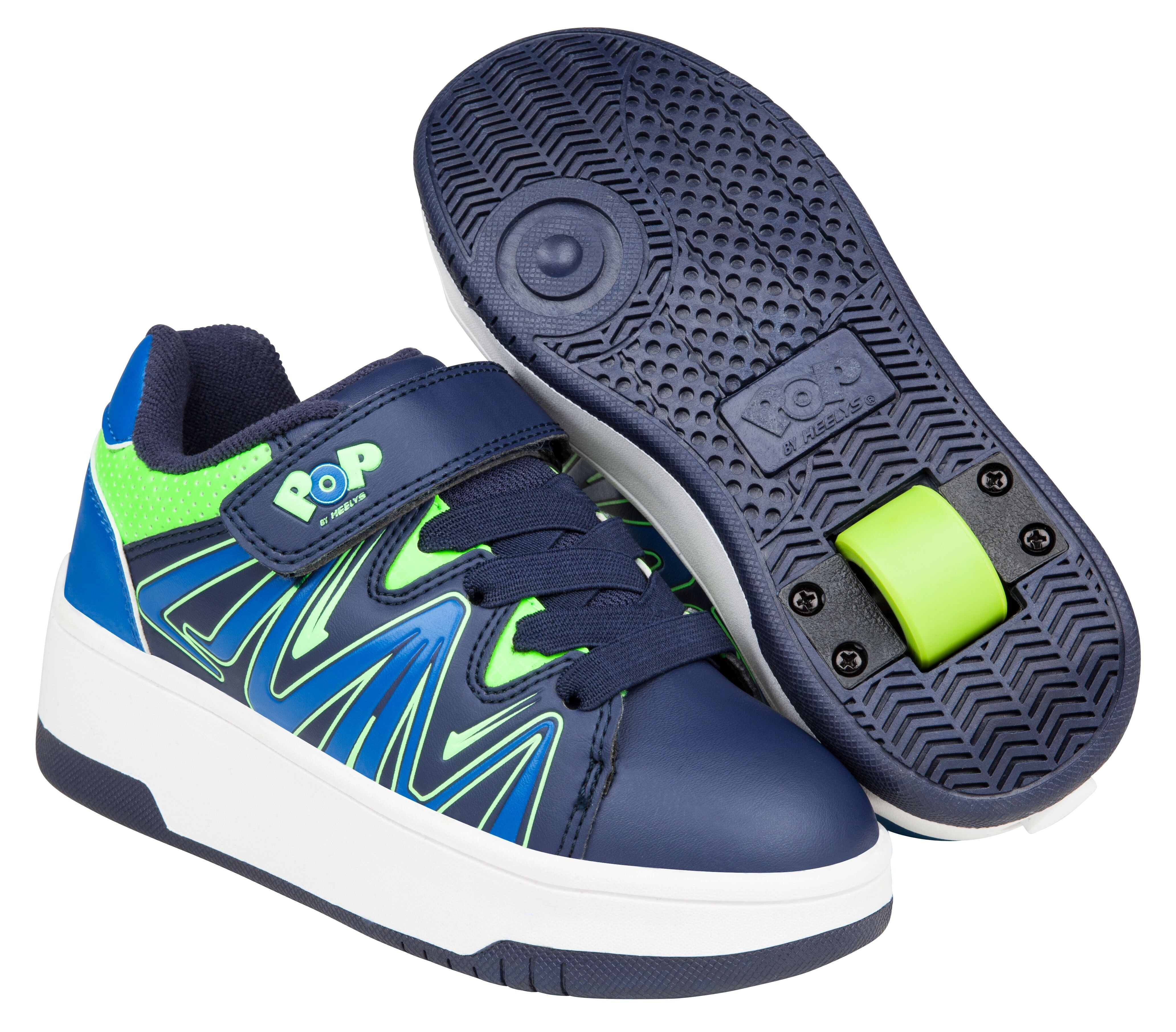 Heelys - Burst - Navy/Royal/Lime - Size 30 (POP-B1W-0007)