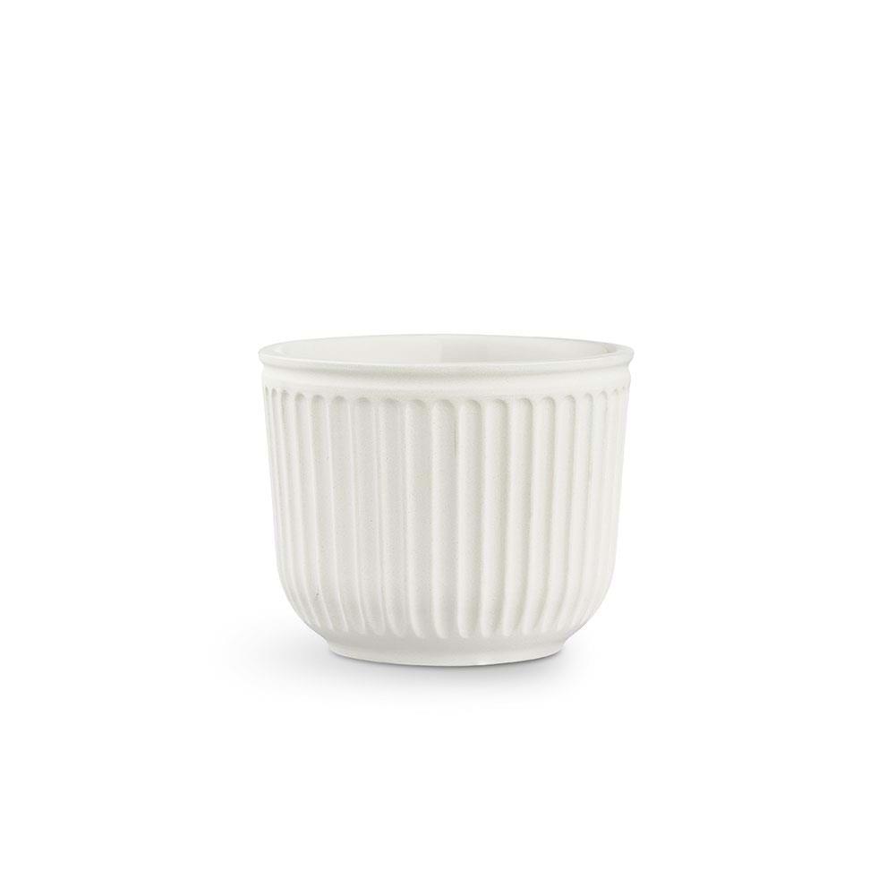 Kähler - Hammershøi Flowerpot Without Glaze Ø 14 - White (692586)