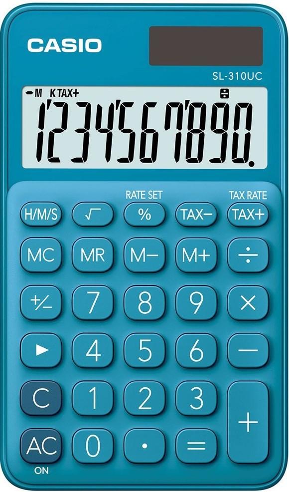 Casio  Pocket Calculator Blue (Model No. SL310UC-BU)