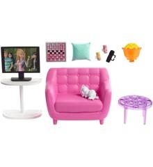 Barbie - Indendørs Møbler - Stue og Killing Legesæt (FXG36)