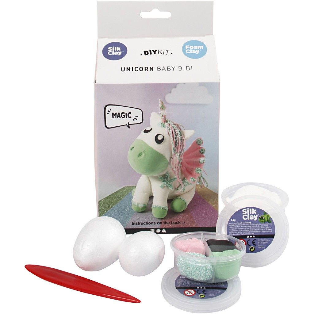 DIY Kit - Funny Friends - Einhorn - Grün
