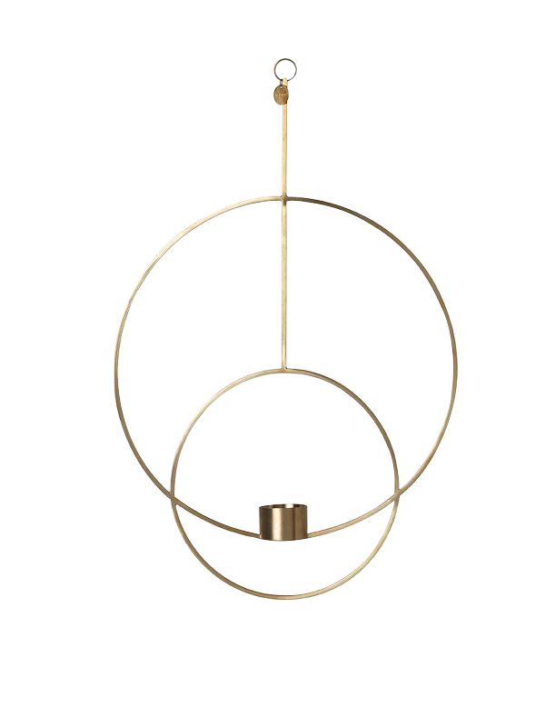 Ferm Living - Haning Tealight Circular - Brass (5748)