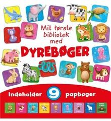 Børnebog - Mit første bibliotek - med Dyrebøger (med 9 papbøger)