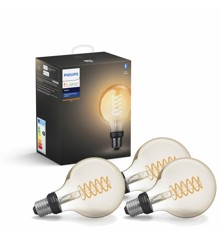Philips Hue - 3xE27 Filament G93 - Bundle