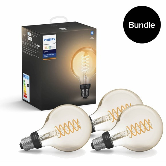 Philips Hue - 3x Filament Vintage-Lampe E27 G93 - Bundle