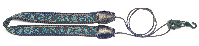 """Stagg - 1"""" Woven Nylon - Ukulele Strap (Blue)"""
