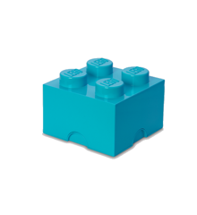 Room Copenhagen - LEGO Opbevaringskasse Brick 4 - Medium Azur